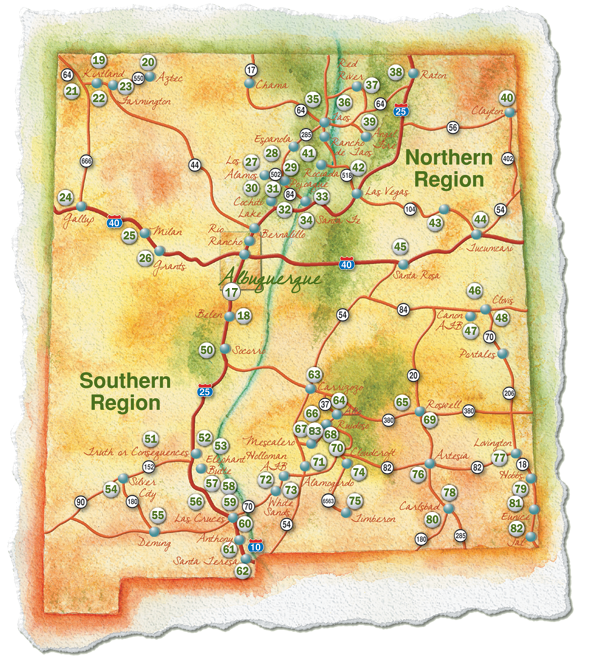 Golf New Mexico A Complete Course Guide To The Land Of Enchantment - New mexico map